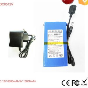 Wholesales DC USB output industrial battery DC0512V 12V 6800mAh & 5V 13000mAh Polymer Li-ion 12v lipo battery