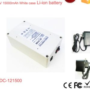 DC-121500 White 15000mAh Polymer Recharge li-ion 12v lithium battery